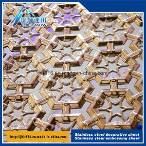 Conseil de titane creux gaufré 201 Couleur plaque décorative en acier inoxydable