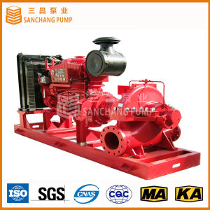 De diesel Gespleten Pomp van het Geval voor Brandbestrijding of het Lossen van het Water