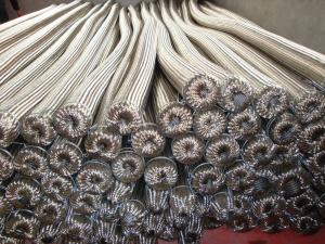 플랜지를 가진 고리 모양 물결 모양 스테인리스 유연한 금속 호스