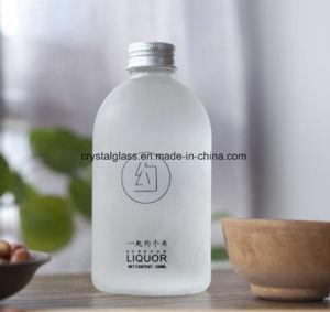 Runde Getränkeflaschen-bereiftes Glas mit Aluminiumkappe
