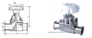 Valvola a diaframma pneumatica sanitaria del commestibile dell'acciaio inossidabile
