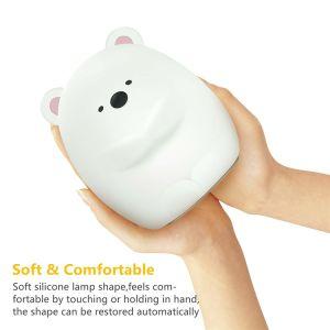 Heiß-Verkauf der Qualitäts-Fabrik, die LED-Nachtlicht für Baby mit weichem Silikon-Shell versieht
