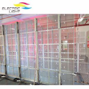 Intérieur en extérieur l'écran LED haute en verre transparent
