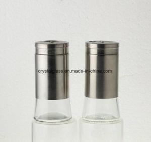 Salz-Pfeffer-Glasschüttel-apparat des Gewürz-130ml mit Edelstahl-Beschichtung