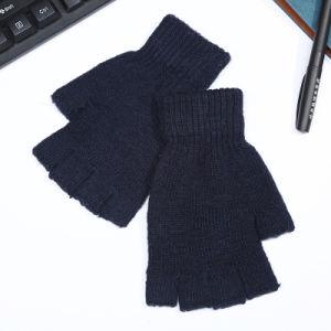 Metà-Barretta lavorata a maglia acrilica di inverno degli uomini/guanti magici Fingerless (YKY5470)