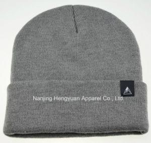 100%Acrylicは嘆く肋骨(HY17071503)が付いている帽子によって編まれる帽子を