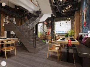 コーヒー木はレストランのフロアーリングのための質の大理石の平板を張りめぐらす