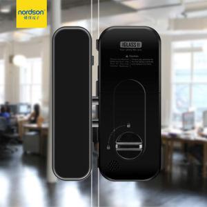 インストールスライド押し12mmの緩和されたガラスのドアロックに容易