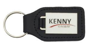 As embarcações de metal personalizado Jóias de cadeia de chaves em pele genuína (085)