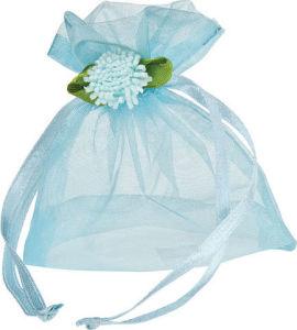 カスタム透過ギフトの結婚式(COB-1152)のための包装のオーガンザのサテンのリボンのドローストリングの袋