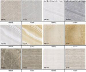 De aangepaste Gele Tegel van de Vloer van het Porselein van de Kleur Volledige Verglaasde Opgepoetste