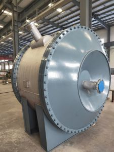 Aço inoxidável / Aço Carbono/Titânio Permutador de calor espiral destacável para o Petróleo/Planta Química