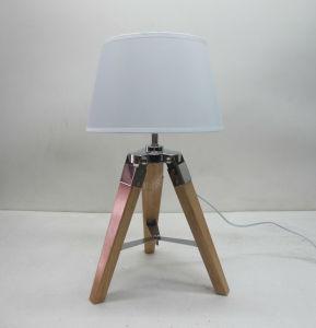 Couleur naturelle Mini trépied avec Tc de lampe de table de l'ombre de l'éclairage / lumière / lampe/DEL/Meubles et décoration