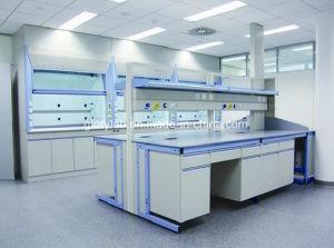高品質木そして鉄骨構造の実験室の家具