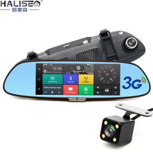 7 polegadas Full HD 3G WiFi Carro de dupla câmara Gravador de vídeo DVR Android Espelho Retrovisor de navegação GPS Car DVR WiFi 1080P Carro Dash Cam