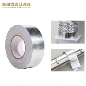 頑丈な銀製の布のガラス繊維の絶縁体はアルミホイルテープを補強した