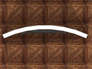 Пользовательский размер кривой и портативная светодиодная лампа ткани в салоне на размещение рекламы