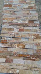 ベージュスレートは文化石塀のタイルをタイルを張る