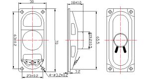 ridurre in pani del computer portatile di Doorphone del citofono dell'altoparlante Dxyd3070n 8ohm 3W TV di 30mm*70mm