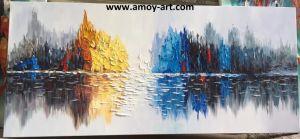 ハンドメイドの現代景色の概要のキャンバスの油絵