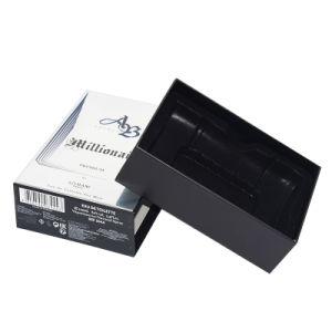 Картонный ящик ручной работы подарочная упаковка бумаги пуст жесткой духи окно со сдвижной
