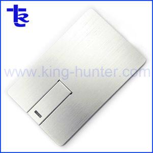 Металлические Aluminous кредитной карты флэш-диск USB для компании подарок