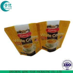 Version imprimable à bas prix du café en plastique Sac/pochette à fermeture éclair