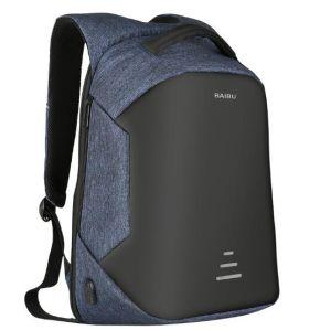 Laptop Van de Bedrijfs schouder van Theftproof de Anti-diefstal Waterdichte Dubbele van de Reis Zak van de Rugzak van de Computer van het Notitieboekje met USB (CY9801)