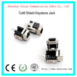 Snap-in CAT6 Tomada de keystone blindado, Mactisical RJ45 Cat 6 Módulo Ethernet Lightning-Proof Acopladores em linha