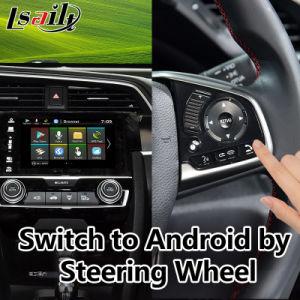 Tudo-em-1 Plug & Play para 2016-2018 Navegador GPS Android Honda Civic, Mirrorlink Interface de vídeo integrado, Google Play