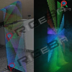 Weiches transparentes LED-Rasterfeld-flexibler Wand-Bildschirmanzeige-Vorhang-Bildschirm