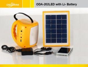 Sistema de iluminación solar portátil de la AOD-202 conducido con 6V/4Ah batería de plomo ácido