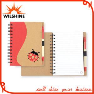 Diario del taccuino a spirale con la penna per il libro di esercitazione della cancelleria (SNB111)