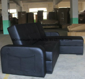 Faltendes Sofa-Bett-Sofa das Sitzen-Raum-Leder-Sofa-Bett (M-X3527)