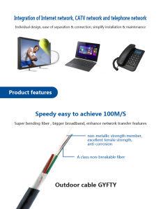 Conducto de la antena y cable de fibra óptica para la instalación al aire libre