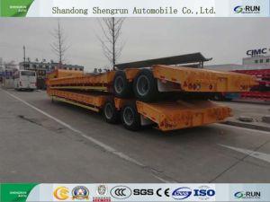 Kazakhstan Shengrun 상표를 위한 낮은 반 침대 트레일러 3 차축