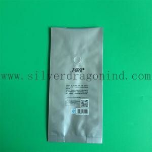 Silberner Farben-Kaffeebohne-Verpackungs-Beutel mit Ventil