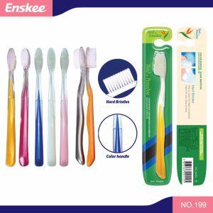 Home el uso diario PP manejan las cerdas de disco duro de Nylon Cepillo de dientes adultos