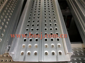 Roulis de panneau d'étage de planche d'échafaudage de Consteuction de soudure formant faisant la machine