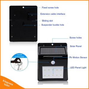 Solarlampen-Innen-/im Freien 10 LED-Bewegungs-Fühler-Sicherheits-Wand-Licht