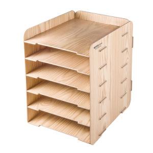 [ديي] أسلوب جديدة 6 طبقة خشبيّة مكتب منظّم [د9120]