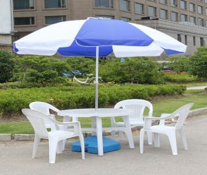 Durchmesser ist 96inch, das Patio-quadratischen Strand-Regenschirm mit Regenbogen bekanntmacht