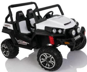 De Kinderen Berijden Op De Elektrische Auto Van Het Stuk Speelgoed