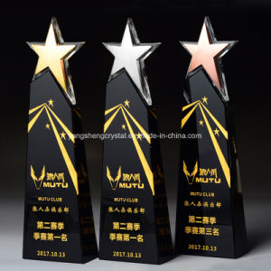 Diseño personalizado de la moda popular premio trofeo de cristal