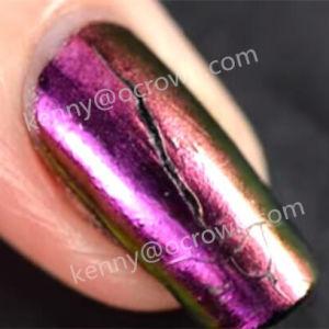 Ghost хромированные зеркала заднего вида лак для ногтей гелем польский Chameleon порошок пигмента