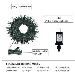Commerce de gros d'usine IP44 110V-260V décoration lumière LED Garland Conte de chaîne