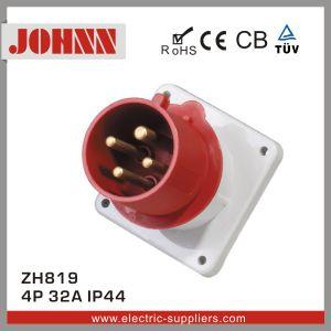 IP44 4p 16A Prise industrielle monté sur panneau