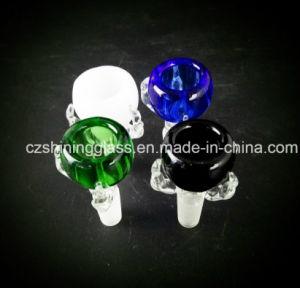 Conjunto de hombres de 14,4 mm cuencos de cristal de hierba seca para fumar