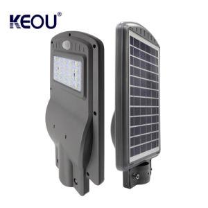 1つのLEDの太陽街灯の屋外の照明細い動きセンサーエネルギー庭の統合されたランプ20Wすべて