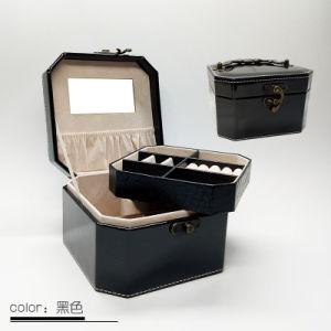 سوداء جميل حالة لأنّ سيّدة [ترفل] [جفت] نمو [بو] جلد مستحضر تجميل صندوق